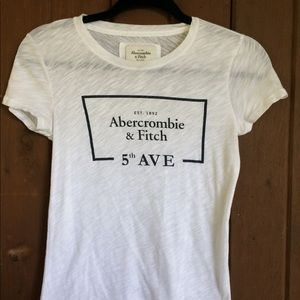 White Abercrombie and Fitch Tshirt